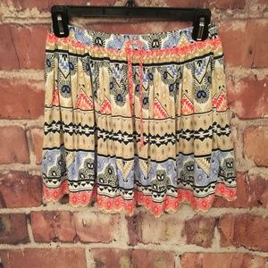 Old Navy Aztec Print Pleated Athletic Skirt